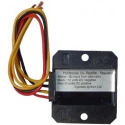 Regulador /Rectificador electr. altern. 1 fase 12V 10123 Podtronics