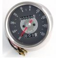 C/Km Triumph/BSA/Norton Face Cinza 0-190 Km/h -D82.5mm (99-0159K)