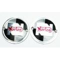 Emblema Depósito Gas. Norton  Plastico, Redondo